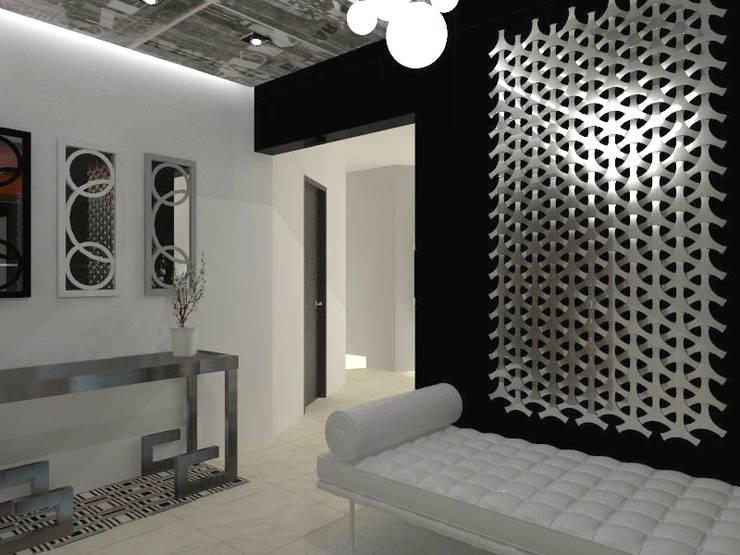 VALLE DE LAS PALMAS: Pasillos y recibidores de estilo  por AurEa 34 -Arquitectura tu Espacio-