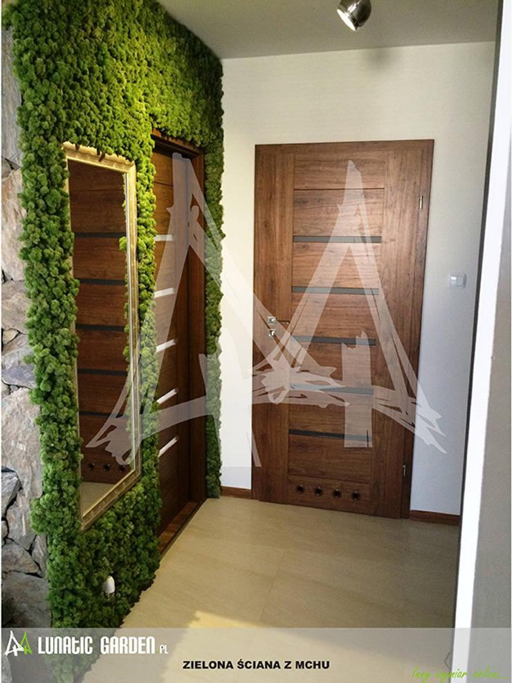 Zielona ściana – ogród w bloku.: styl , w kategorii Ogród zaprojektowany przez Lunatic Garden