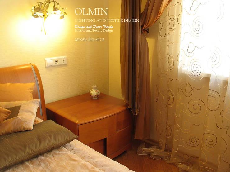 Текстиль в Интерьере: Спальная комната  в . Автор – ИП OLMIN - Архитектурная студия Олега Минакова