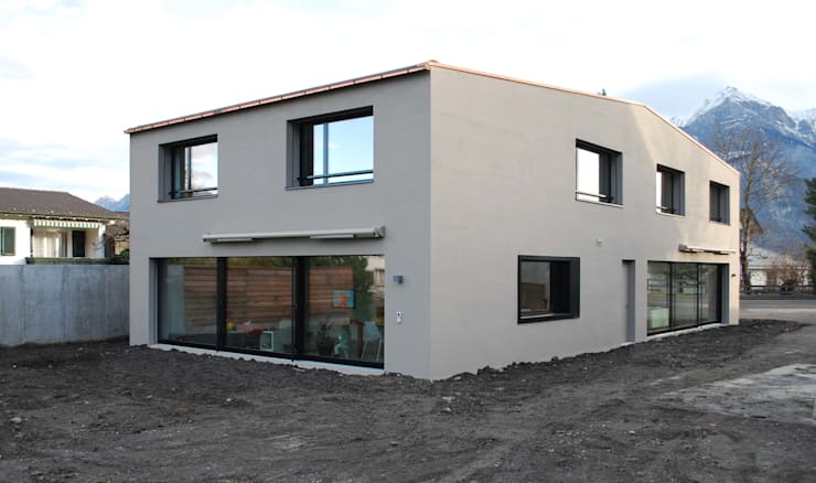 EFH Sarganserstrasse: minimalistische Häuser von Marc Saladin Architekten GmbH