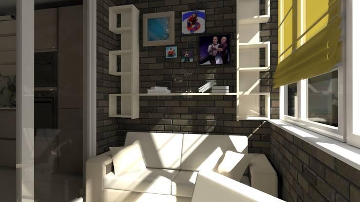 Проект двух комнатной квартиры.: Tерраса в . Автор – Студия ремонта 'Рыжий кот'