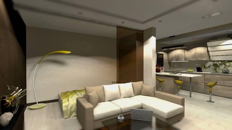 Проект двух комнатной квартиры.: Столовые комнаты в . Автор – Студия ремонта 'Рыжий кот'