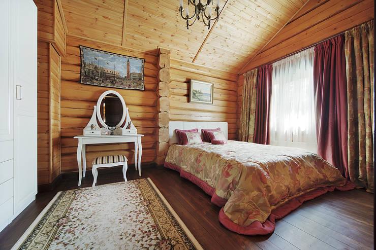 Коттедж в Сысерти: Спальни в . Автор – Ирина Шаманова