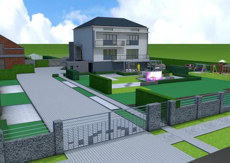 Projekt płotu - ujęcie 1: styl , w kategorii Ogród zaprojektowany przez UNICAT GARDEN,