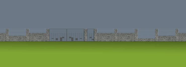 Projekt płotu - ujęcie 3: styl , w kategorii Ogród zaprojektowany przez UNICAT GARDEN,