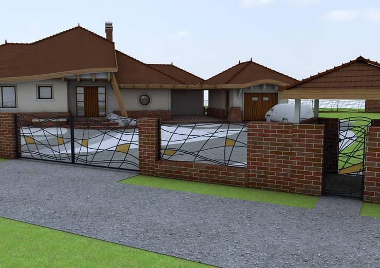 Projekt płotu - ujęcie 1: styl , w kategorii Ogród zaprojektowany przez UNICAT GARDEN