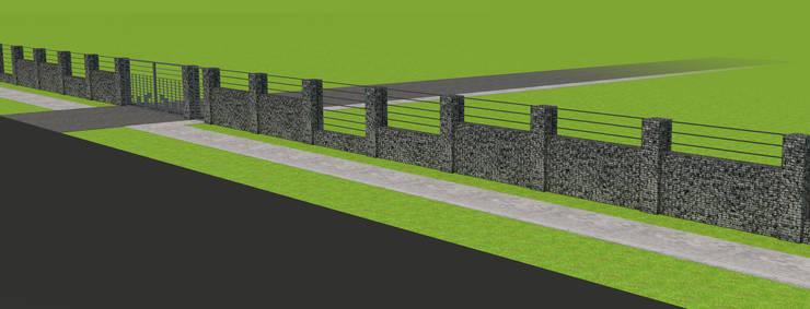 Projekt płotu - ujęcie 4: styl , w kategorii Ogród zaprojektowany przez UNICAT GARDEN,