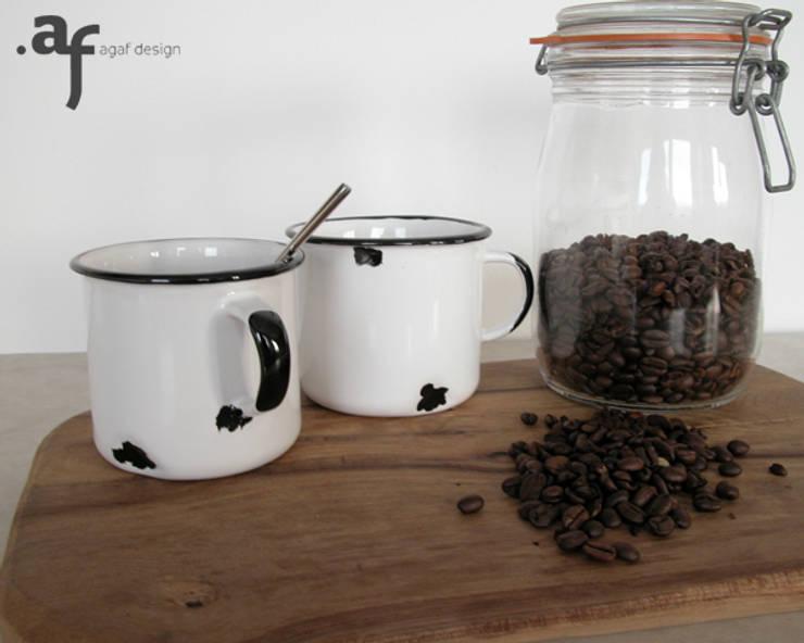 """Kubek Ceramiczny - """"Tak Jestem z Ceramiki"""": styl , w kategorii Jadalnia zaprojektowany przez Agaf Design"""