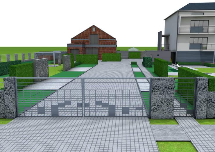 Projekt płotu - ujęcie 2: styl , w kategorii Ogród zaprojektowany przez UNICAT GARDEN,