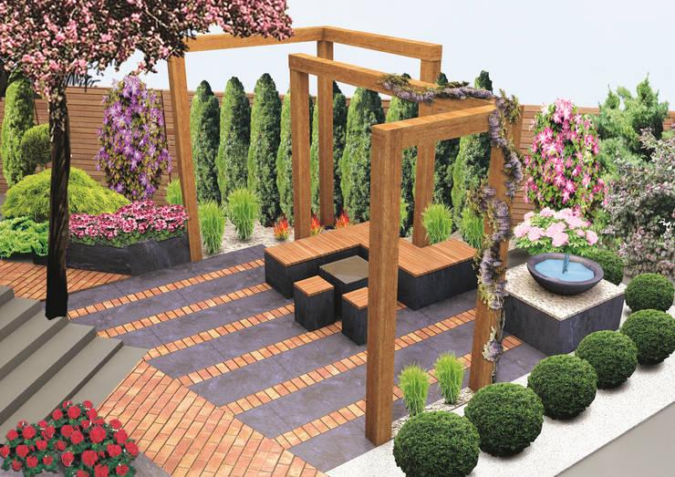 Zakątek wypoczynkowy - wersja 1: styl , w kategorii Ogród zaprojektowany przez UNICAT GARDEN