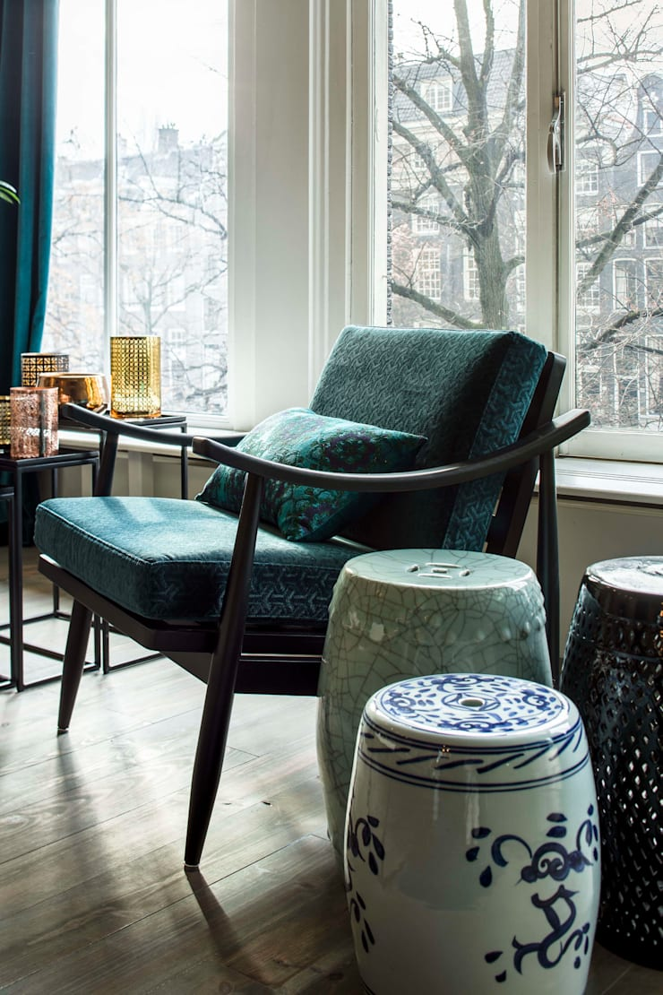Amsterdam Keizersgracht:  Woonkamer door Ethnic Chic Home Couture, Modern