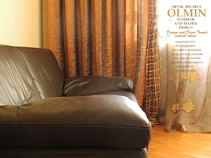 Текстиль в Интерьере: Гостиная в . Автор – ИП OLMIN - Архитектурная студия Олега Минакова