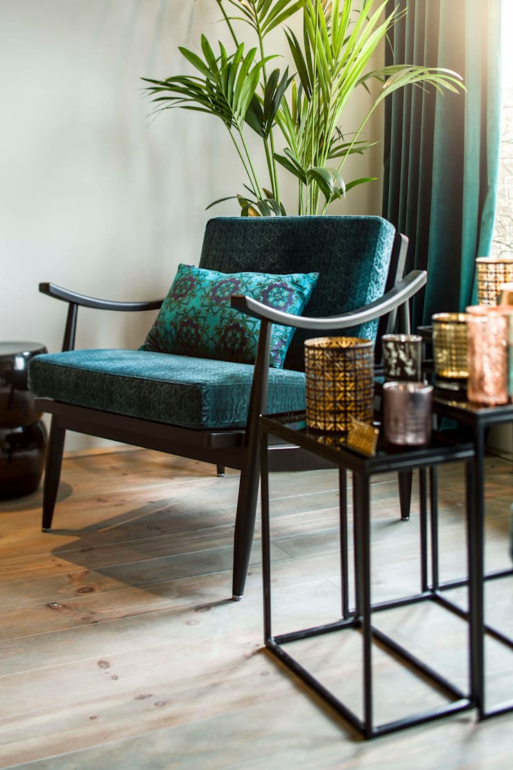 Amsterdam Keizersgracht:  Woonkamer door Ethnic Chic Home Couture