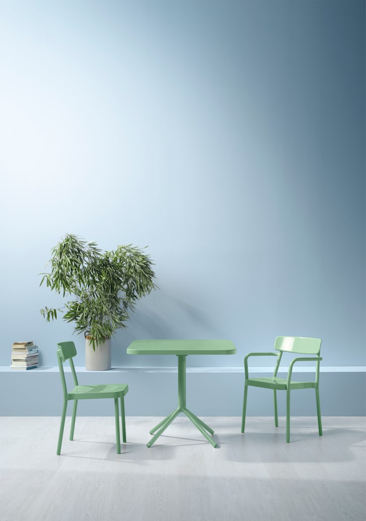 GRACE chair and table for EMU:  Kitchen by Samuel Wilkinson studio