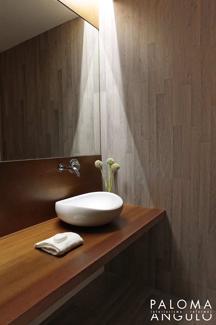 Ванные комнаты в . Автор – Interiorismo Paloma Angulo, Минимализм