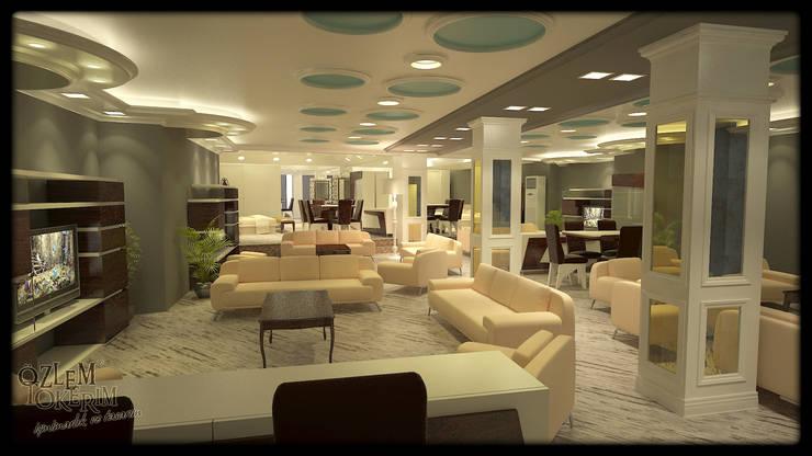 özlem tokerim iç mimarlık ve tasarım – mobilya mağazası...:  tarz Ofis Alanları & Mağazalar