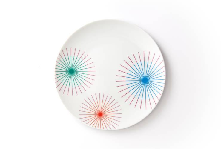 Porcelanowy talerz marki Zulana (śr.21cm): styl , w kategorii Jadalnia zaprojektowany przez Zulana