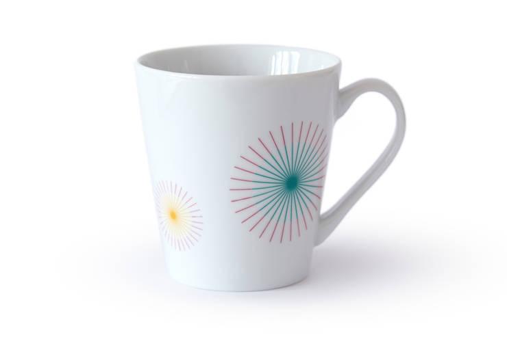 Porcelanowy kubek marki Zulana (poj.0.35l): styl , w kategorii Jadalnia zaprojektowany przez Zulana