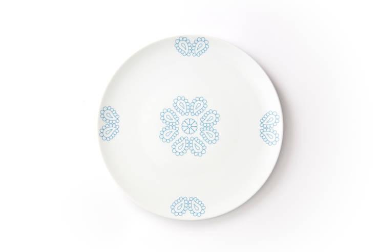 Duży, porcelanowy talerz z kolekcji Makatka marki Zulana (śr.28cm): styl , w kategorii Jadalnia zaprojektowany przez Zulana,
