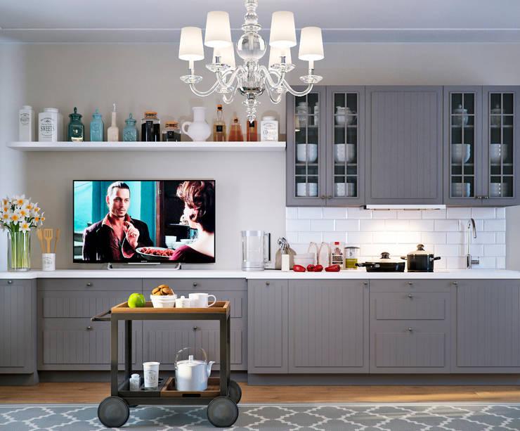 Столовая зона: Кухни в . Автор – EJ Studio