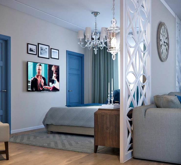 Спальная зона: Спальни в . Автор – EJ Studio