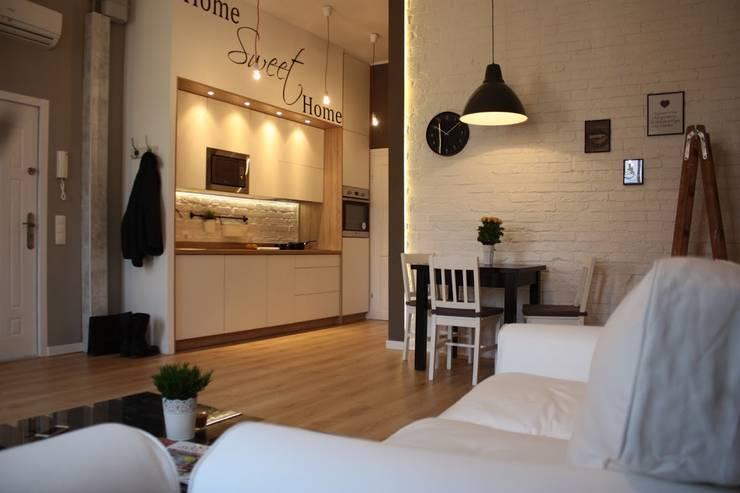 Metamorfoza Apartamentu : styl , w kategorii Jadalnia zaprojektowany przez Remline Jakub Skowroński,Skandynawski