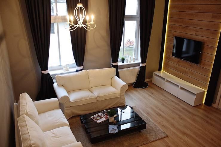 Metamorfoza Apartamentu : styl , w kategorii Salon zaprojektowany przez Remline Jakub Skowroński