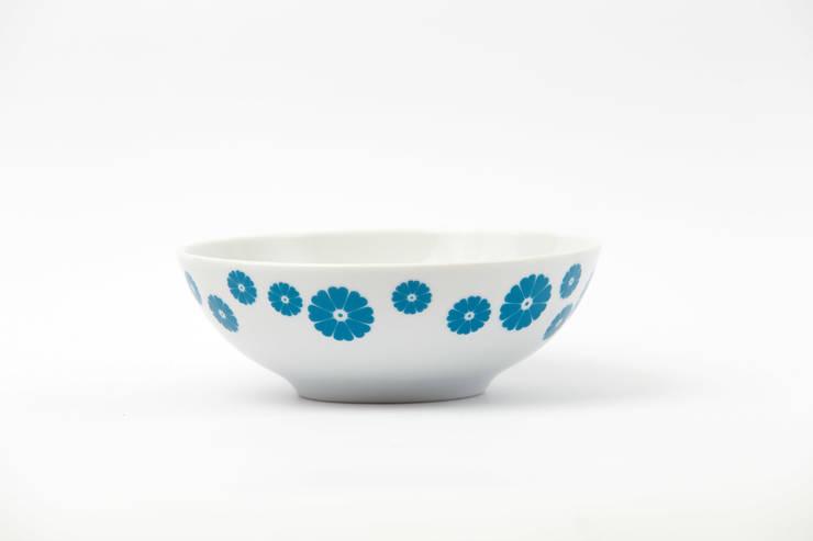 Porcelanowa miseczka Makatka Turkus marki Zulana (śr.16cm): styl , w kategorii Jadalnia zaprojektowany przez Zulana,