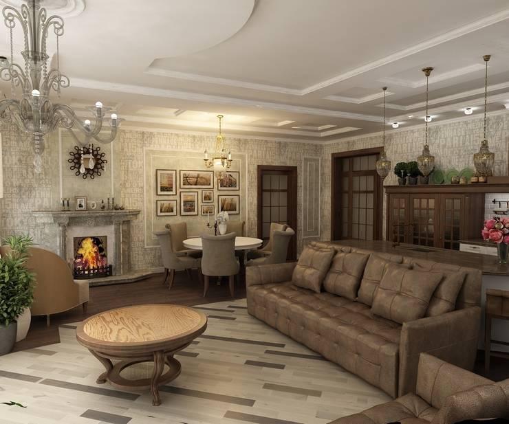Кухня-гостинная: Гостиная в . Автор – Efimova Ekaterina
