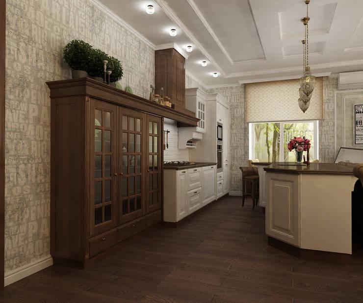 Кухня-гостинная: Кухни в . Автор – Efimova Ekaterina