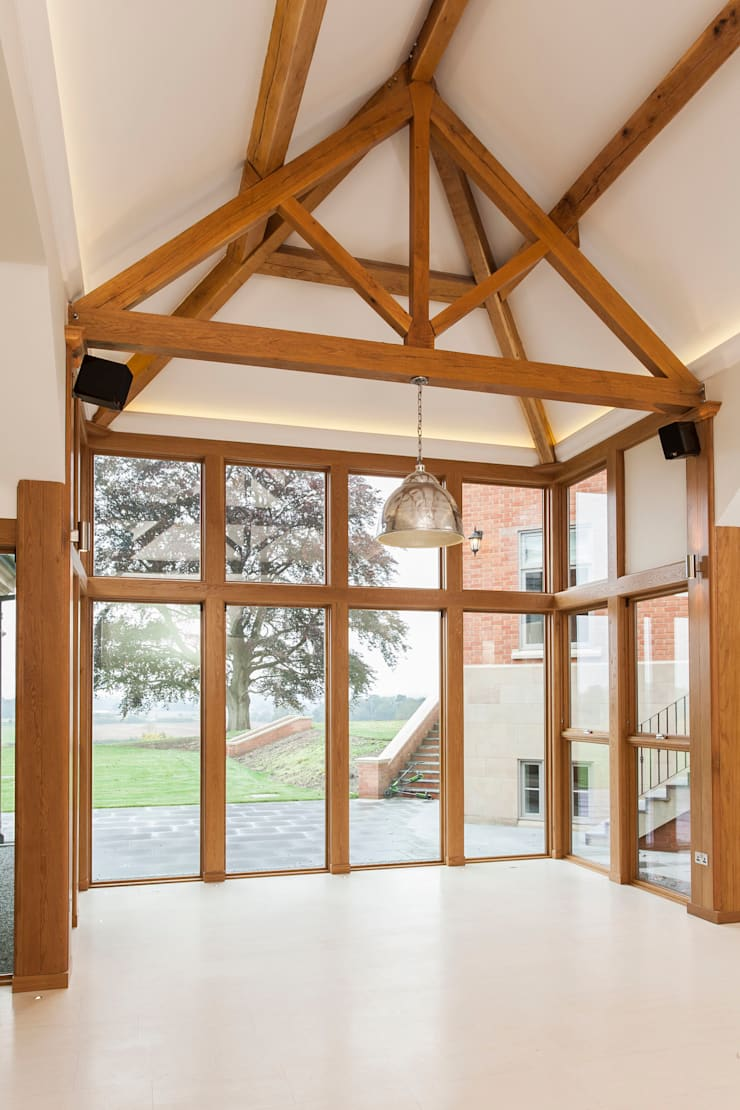 Marvin aluminium clad wood fixed windows :  Windows  by Marvin Architectural