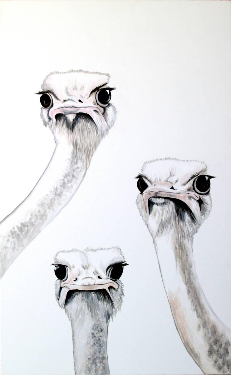 cuadro oleo avestruz delier: Arte de estilo  de ESTUDIO DELIER
