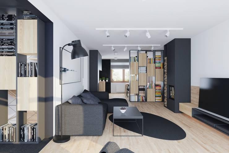 Mieszkanie JM: styl , w kategorii Salon zaprojektowany przez 081 architekci
