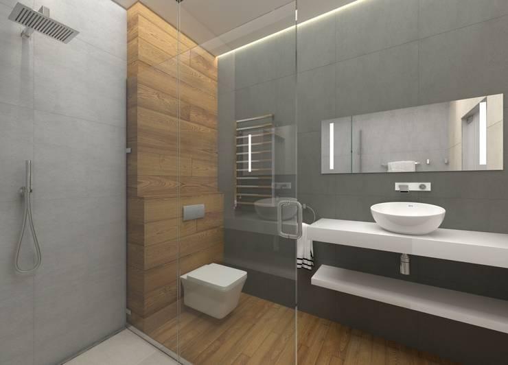 Квартира-студия для холостяка: Ванные комнаты в . Автор – Elena Arsentyeva,