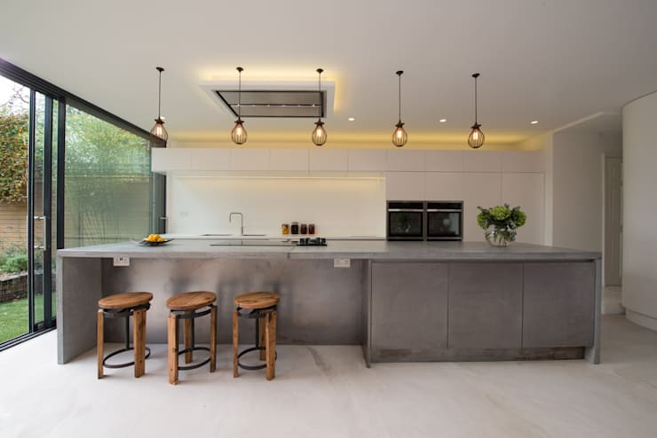 Peckham Victorian house wrap around extension:  Kitchen by Ar'Chic