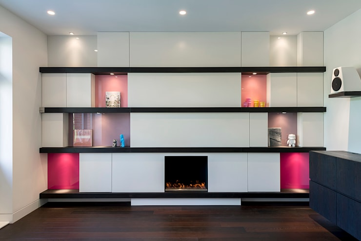 London Maida Vale flat refurbishment:  Living room by Ar'Chic