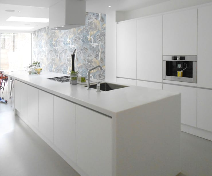 basement creation and 3 storey house extension:  Kitchen by Ar'Chic