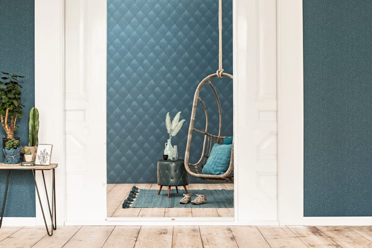 Wallpaper Denim: moderne Woonkamer door BN International