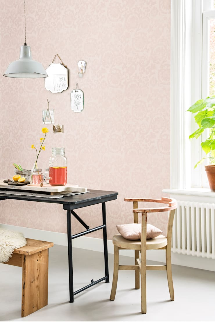 Wallpaper Denim:  Eetkamer door BN International