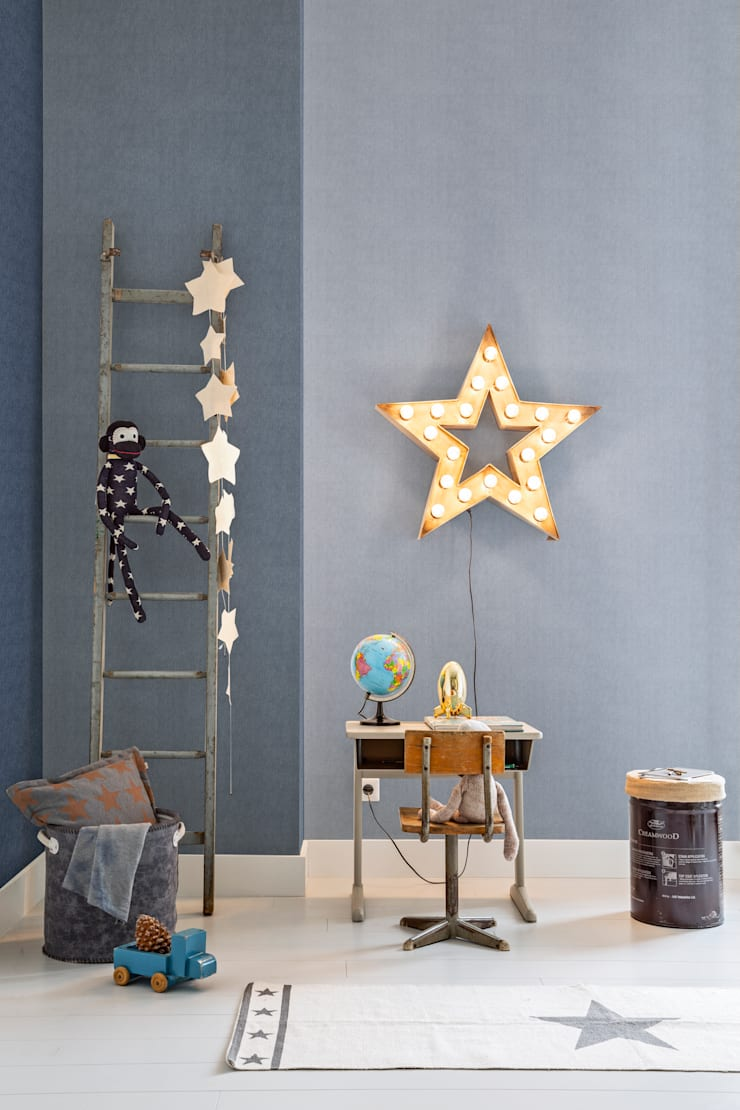 Wallpaper Denim:  Kinderkamer door BN International