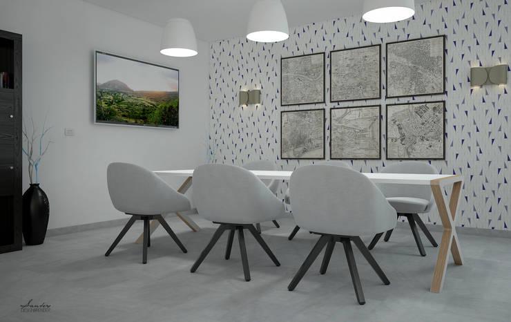 Particolare tavolo riunione - render: Studio in stile  di Santoro Design Render