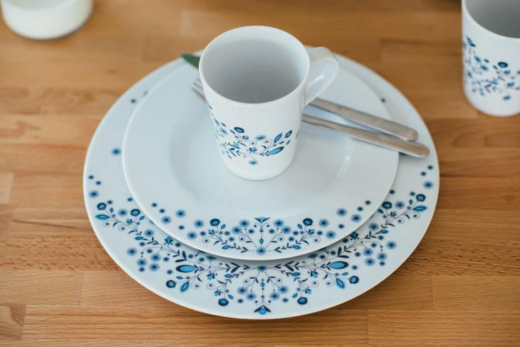 Porcelanowy zestaw z kolekcji Folk marki Zulana: styl , w kategorii Jadalnia zaprojektowany przez Zulana