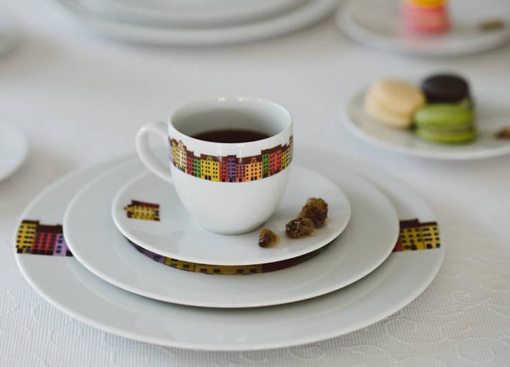 Porcelanowy zestaw z kolekcji Miasto marki Zulana: styl , w kategorii Jadalnia zaprojektowany przez Zulana