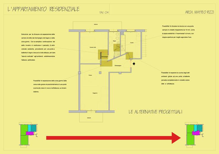 Ristrutturazione appartamento a Bergamo:  in stile  di ARKHISTUDIO