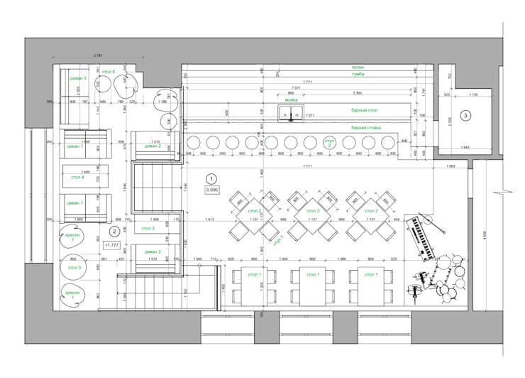 План мебели:  в . Автор – Александр Михайлик