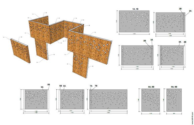 Схема декоративных ограждений: Стены и пол в . Автор – Александр Михайлик
