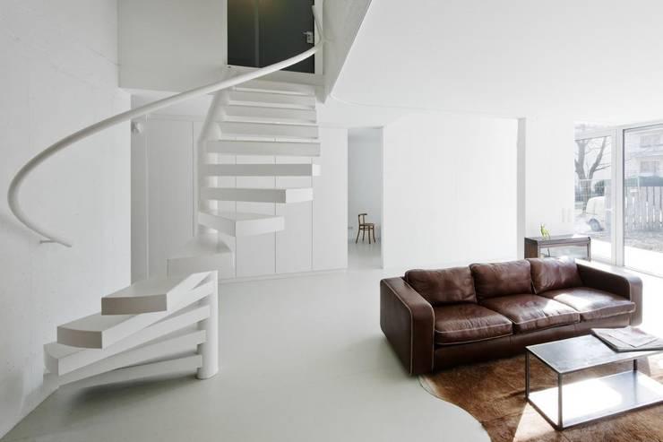 Wohnzimmer Top 1, EG © Hertha Hurnaus: ausgefallene Wohnzimmer von Superblock ZT Gmbh
