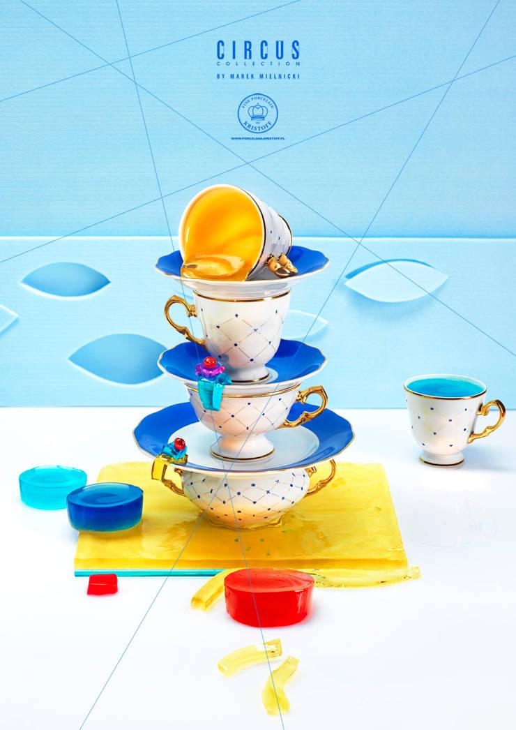Kolekcja Circus_projektant_ Marek Mielnicki: styl , w kategorii Jadalnia zaprojektowany przez Porcelana Kristoff