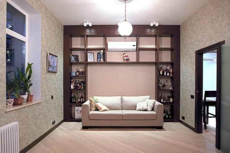 Двухуровневая квартира: Рабочие кабинеты в . Автор – Александр Михайлик