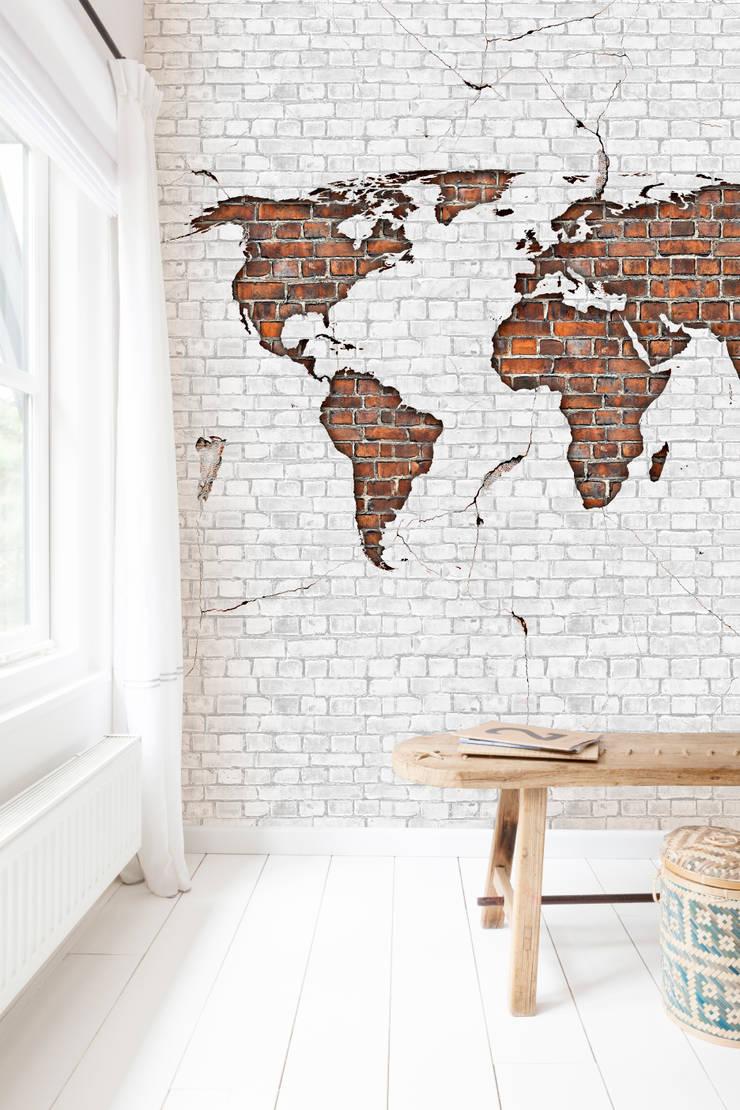 Worldmap Brick:  Slaapkamer door BN International, Modern